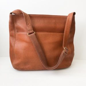 Coach leather pebbled tote bag